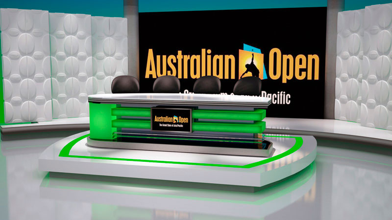 3d artist impression of Australian Open Host Set