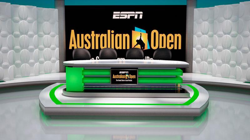 3d artist impression of Australian Open Host Set
