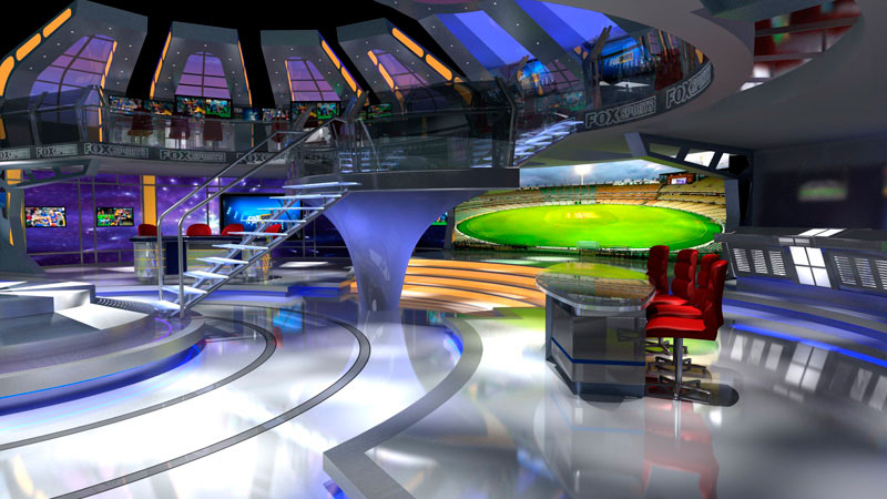 3d visual of Fox Sport World Proposal