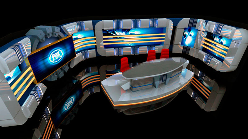 3d visual Fox Sports Set
