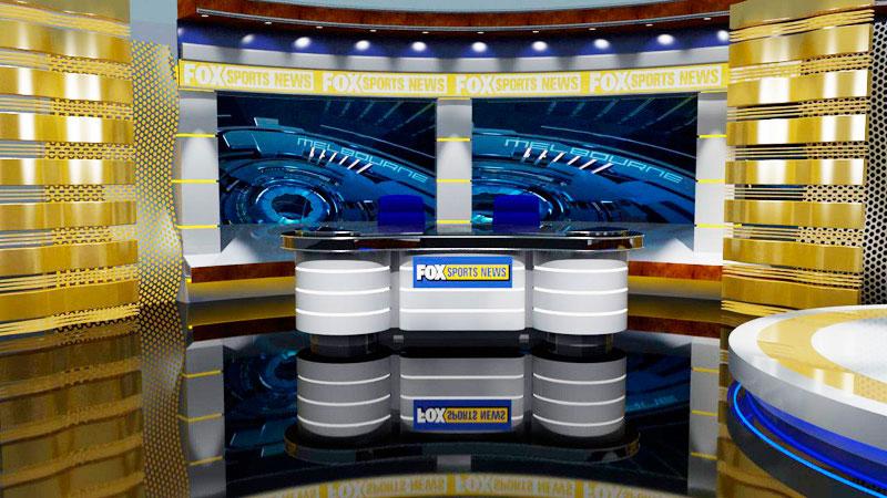 3d visual of Fox Sports News set