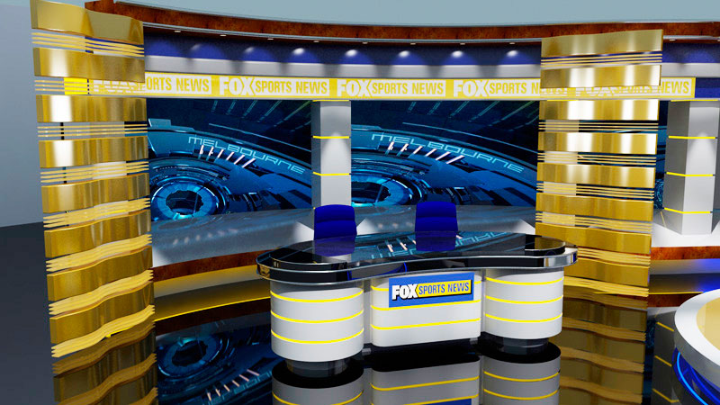 3d Fox Sports News set